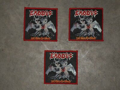 """EXODUS """"Let there be Blood"""" woven patch"""