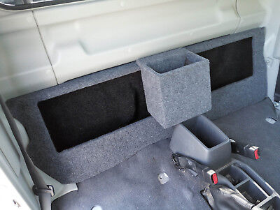 "Toyota Landcruiser 79 series Single Cab storage and subwoofer 12"" sub box"