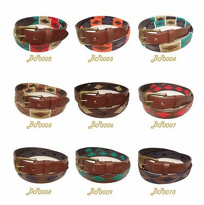 Belt B.P. Polo Stitched Leather,the best artisan quality, handmade