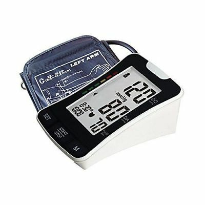 Upper Arm Blood Pressure Digital Monitor Wrist Strap Carry Case Large Display