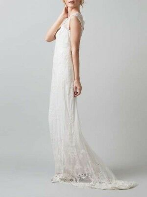 Phase Eight Oriana Wedding Dress Size 6 XS - BNWT - Ivory Embroidered - RRP £650