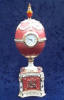 BestPysanky 1902 Rothschild Faberge Egg Music Box Clock NIB