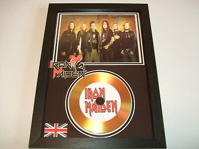 Iron  Maiden   Signed Gold Cd