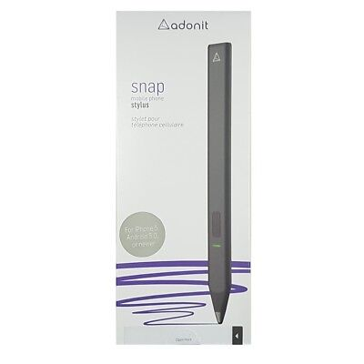 Adonit Snap Fine Point Tip Bluetooth Stylus for iPhone Android Black TM