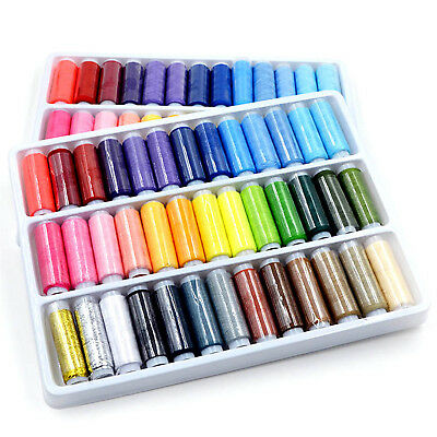 Set Of 39 Assorted Colors Polyester Sewing Thread Spool Set Garments Stitching B