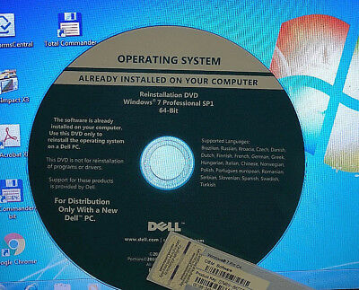 Microsoft Windows7 Professional 64bit Lizenz Medien OEM Vollversion Win7 Pro SP1