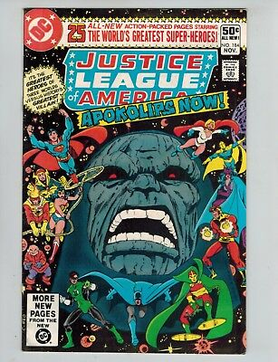 Justice League of America 184  JLA/JSA New Gods vs Darkseid  G/VG 1980