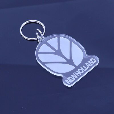 New Holland Tractor Keyring / Keychain - Laser Cut Clear Acrylic Gift