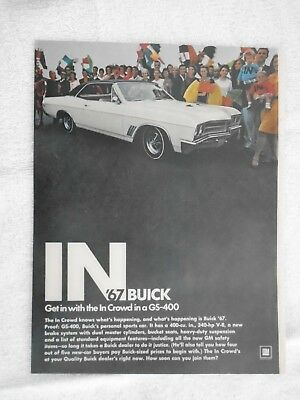 A1 1967 Buick GS-400 Ad Magazine Advertisement