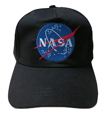 NASA Insignia Space Shuttle Program Astronaut Embroidered Baseball Cap Hat Black