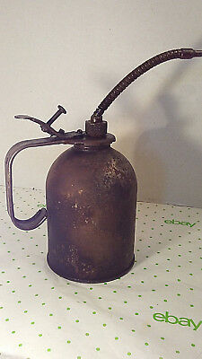 Old Vintage 'EAGLE' Oil Can Engine Oiler ~ Industrial Farm Tools Gas & Oil