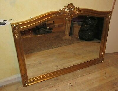 A Reproduction Gilt Framed Bevel Edge Mirror In Victorian Style