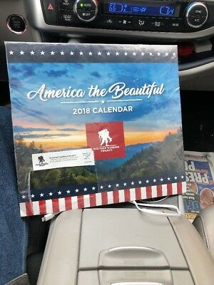 2018 WALL CALENDAR- WOUNDED WARRIOR PROJECT- AMERICA THE BEAUTIFUL Sealed new