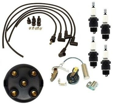 farmall 100 130 140 tractor ih distributor ignition tune up kit universal  wires