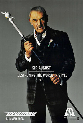 THE AVENGERS MOVIE POSTER 2 Sided ORIGINAL Advance 27x40 SEAN CONNERY