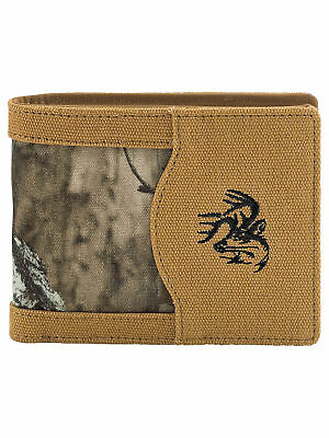 Legendary Whitetails Men's High Impulse Canvas Bi-Fold Wallet Barley
