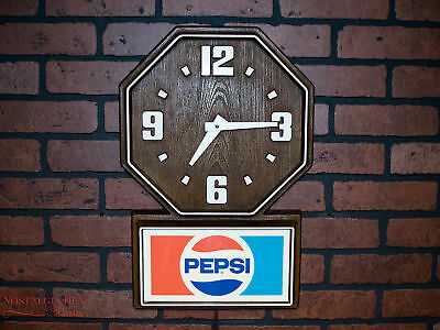 Vintage Pepsi Cola Advertising Clock | Electric Wall Clock |Pepsi Clock | Works