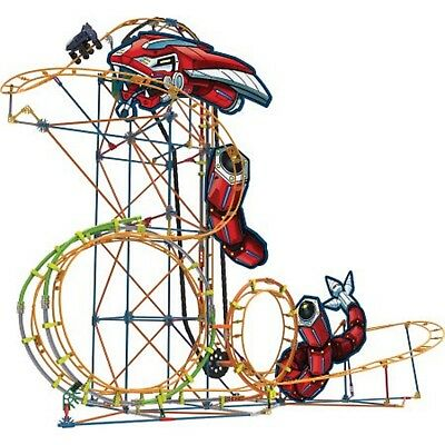KNEX Thrill Ride Mecha Strike Roller Coaster Building Ages 9+ New Toy Gift Motor