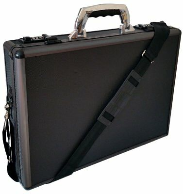 Aluminium Black Laptop Padded Briefcase Attache Case Hard Carry Flight Bag 6931