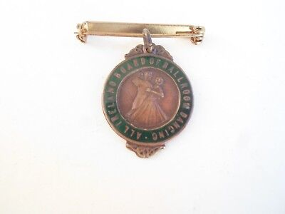 Rare Vintage All Ireland Board of Ballroom Dancing Brass+Enamel Medallion-Badge