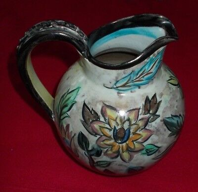 Denby Glyn Colledge Signed Jug Approx 8 1/2 Inches Tall & 6 To 7 Inches Wide