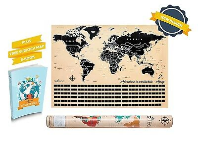 Scratch Off Map Of The World Tracker Big Scratch FREE EBOOK Travel Map