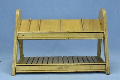 Vintage COUNTRY STORE COUNTER TOP DISPLAY RACK SLANT SHELVES MAL-ART INC #04568