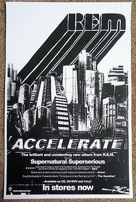 R.E.M. Accelerate POSTER 11x17 (from 2008)