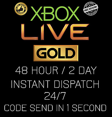 Xbox Live 48 Hour / 2 Days / 48hr GOLD Code / AUTOMATIC INSTANT DISPATCH 24/7