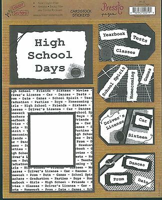 Sissor Sisters - Pressto Papers- ' High School Days' - Cardstock Stickers