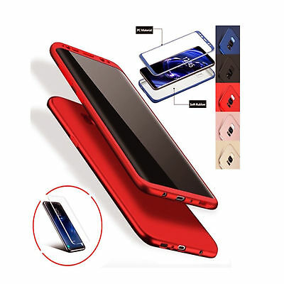 360 Full Rubber Soft TPU Ultra Thin PC Cover Case For Samsung Galaxy S7 Edge S8