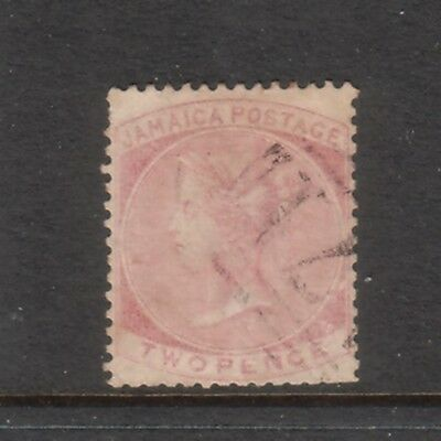 JAMAICA....  1860  2d rose used.... cv £55