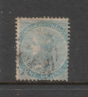 JAMAICA....  1860  1d blue used