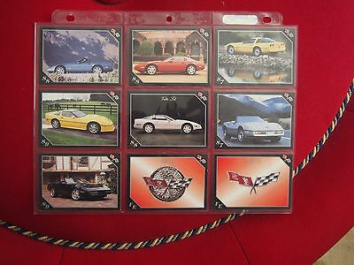 Chevrolet Corvette Trading Cards - Vette Set - Year Models 1987 to 1989