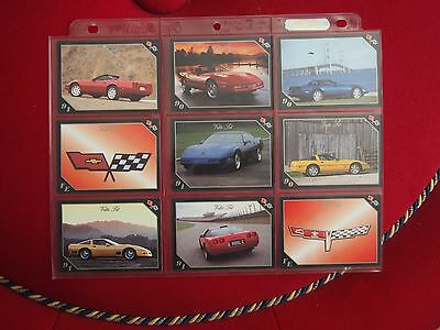Chevrolet Corvette Trading Cards - Vette Set - Year Models 1980 to 1991