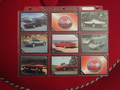 Chevrolet Corvette Trading Cards - Vette Set - Year Models 1982 to 1986