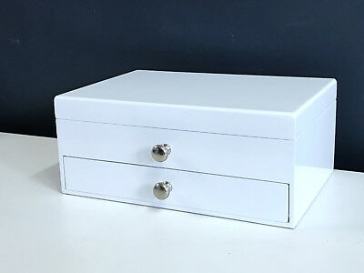 NEW WOODEN JEWELLERY GIFT BOX IN GLOSS FINISH 6819010 WHITE 1.5k