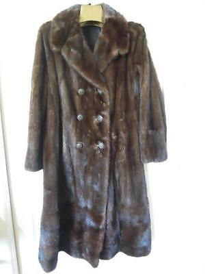 Vintage Genuine Mink Fur Coat MK Size 8