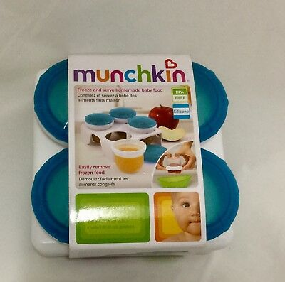 New Munchkin Freeze and serve homemade Breakfast Dinner Tea Supper