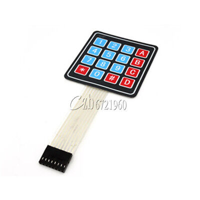 2PCS 4 x 4 Matrix Array 16 Key Membrane Switch Keypad Keyboard for Arduino AVR C