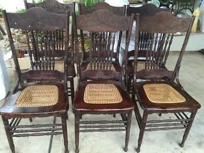 American pressed back, spindle back chairs set of 6