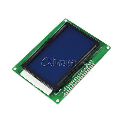 New 12864 128x64 Dots Graphic LCD Display Module Blue Backlight