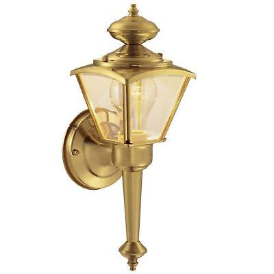 Traditional Wall Mount Lantern Outdoor Porch Light Patio Lighting Polished Brass