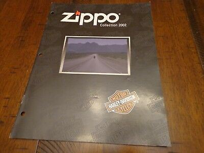 Harley Davidson Zippo Lighter Catalog 2002 Unused