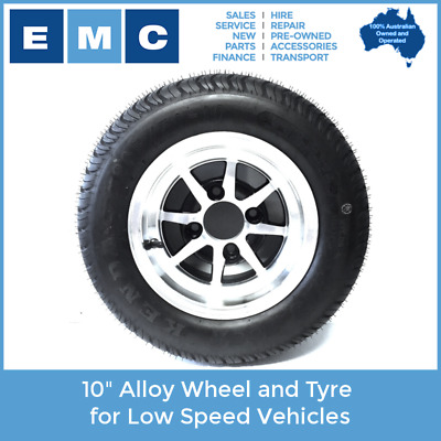"""10"""" Alloy Wheel and Tyre for Low Speed Vehicles"""