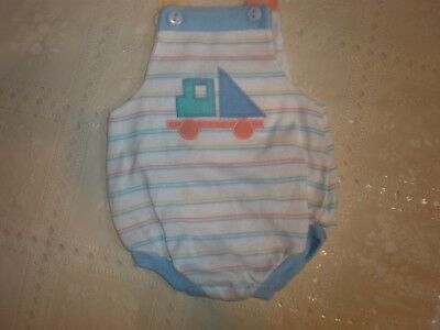 Vintage Baby Boy's Sunsuit Romper Overall 3-6 Months...3.99