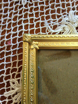 Vintage Solid Brass Rope & Braid Designs Portrait Picture Frame 8 X 10