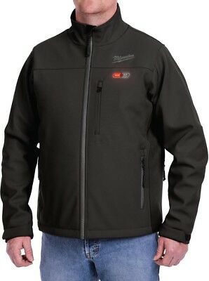 Mens Large M12 12-Volt Lithium-Ion Cordless Black Heated Jacket Kit Milwaukee