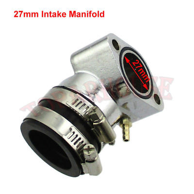 27mm Racing Intake Manifold For GY6 125cc 150cc Moped Scooter Go Kart Buggy