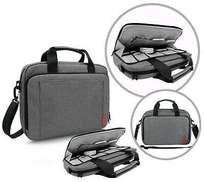Icozzier 13.3-14 Inch Laptop Shoulder Bag, Handle Briefcase With Side Organizer/